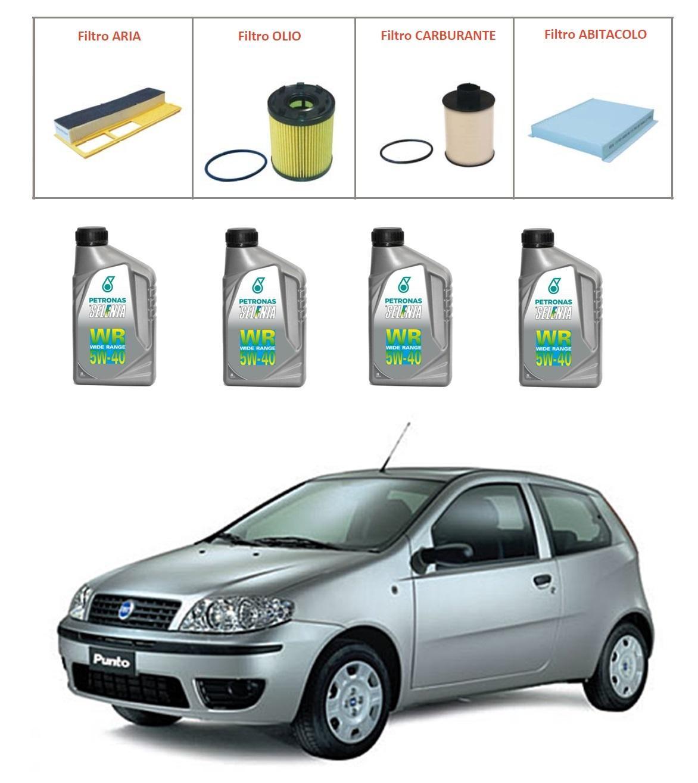 Kit tagliando per Fiat Punto 1.3 Multijet TOP QUALITY imp. Purflux