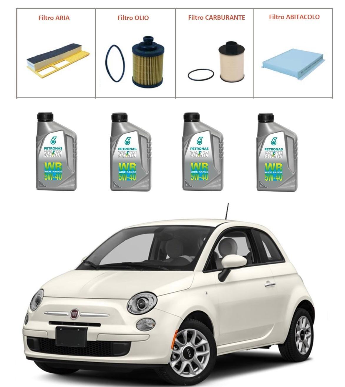Kit tagliando per Fiat 500 1.3 Multijet TOP QUALITY imp. UFI