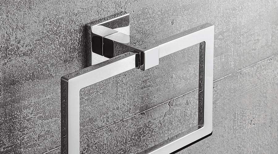 Porta salviette ad anello per il bagno serie Basic Q Colombo design