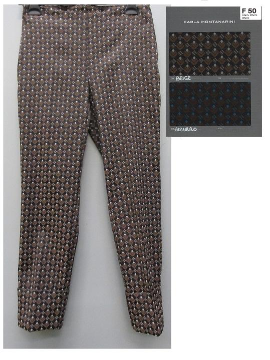 Pantalone capri con risvolto alto
