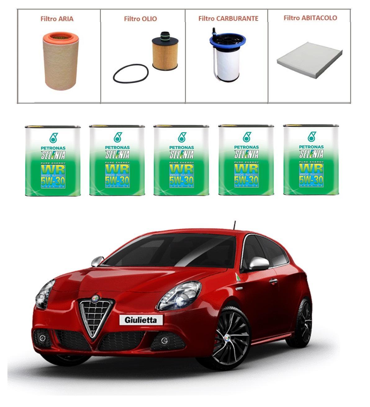 Kit tagliando per Alfa Romeo Giulietta EURO 5B e 6