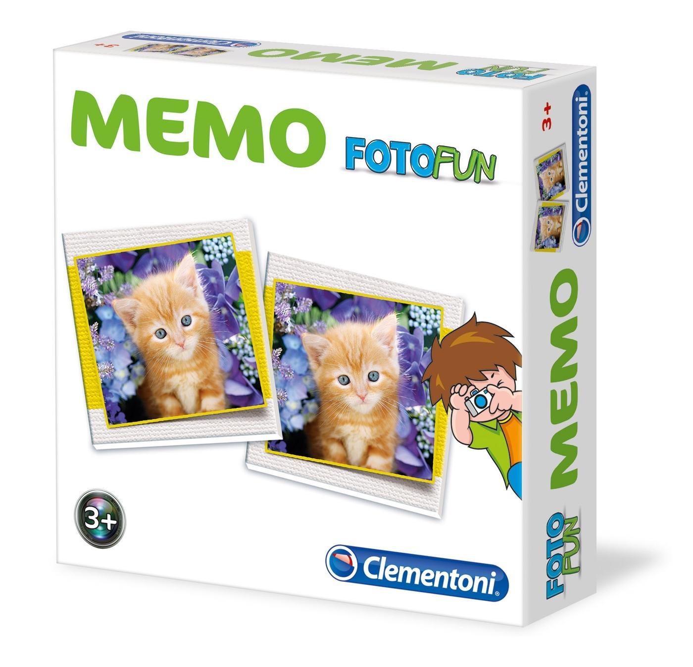 MEMO GAME ANIMALS 12834 CLEMENTONI