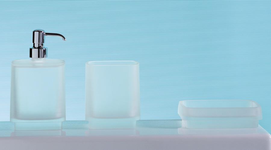 Porta bicchiere per il bagno serie Time Colombo design