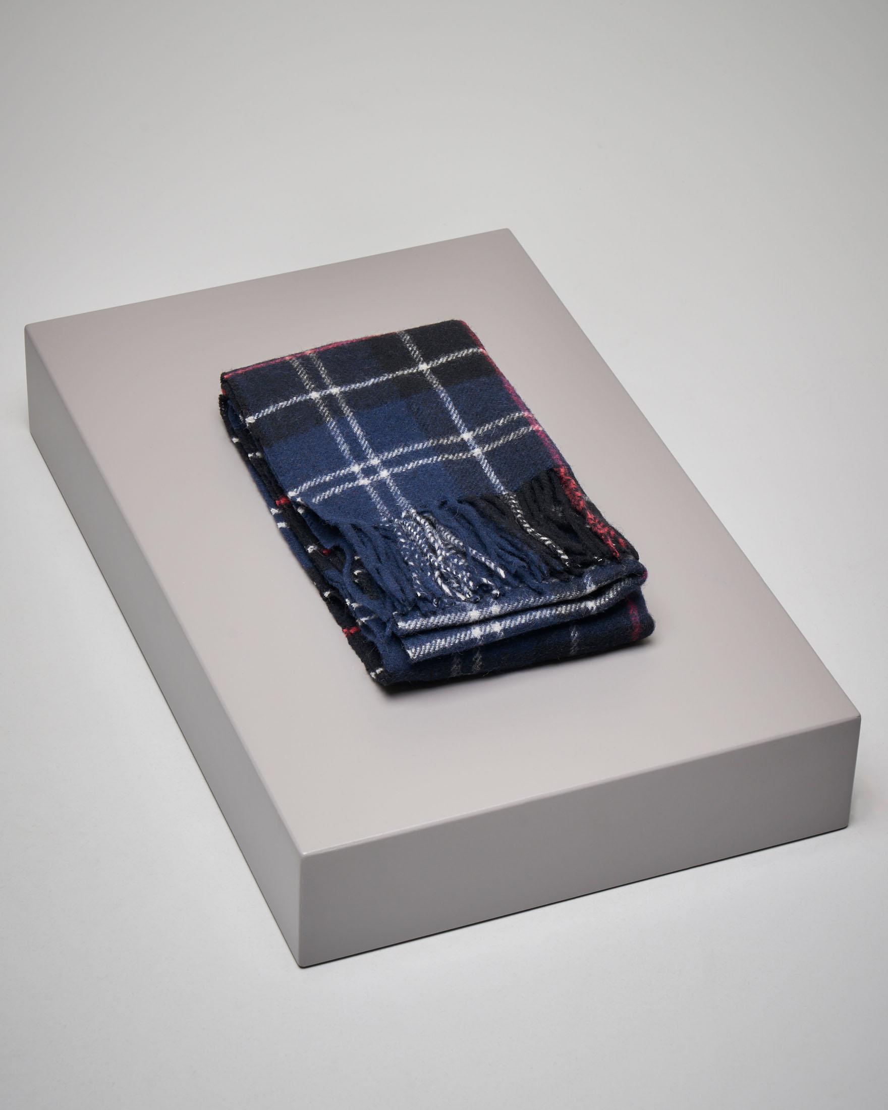 Sciarpa tartan in lana