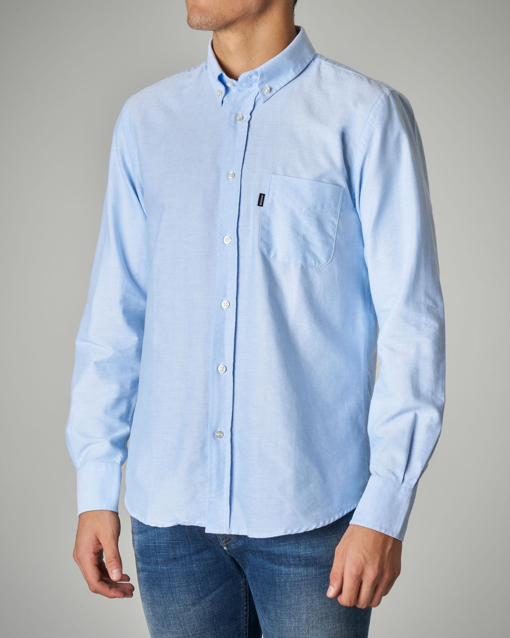 Camicia azzurra button down