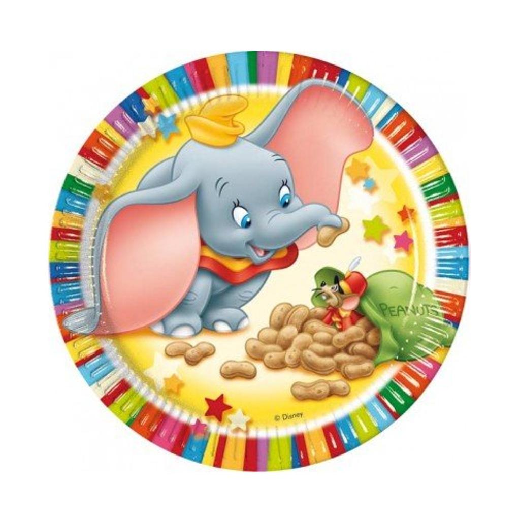 Piatti Dumbo in cartoncino cm. 19,5