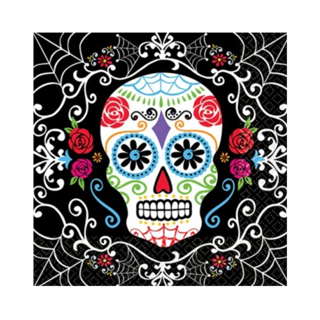 Tovaglioli Halloween Teschio Messicano - Day of the Dead