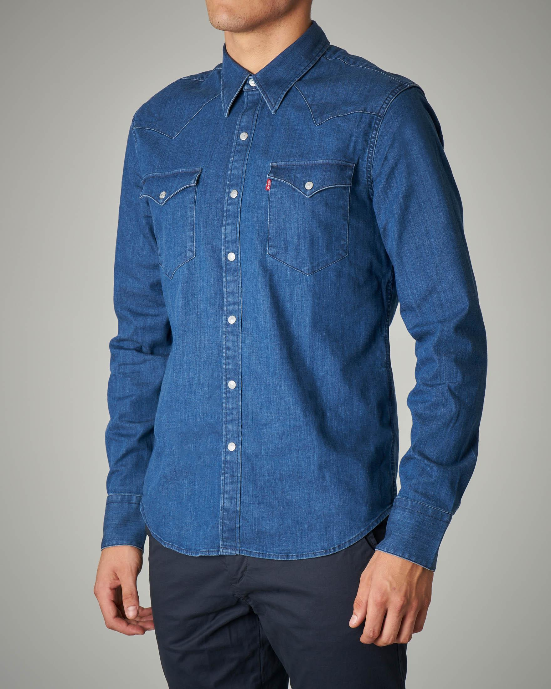 Camicia western in jeans