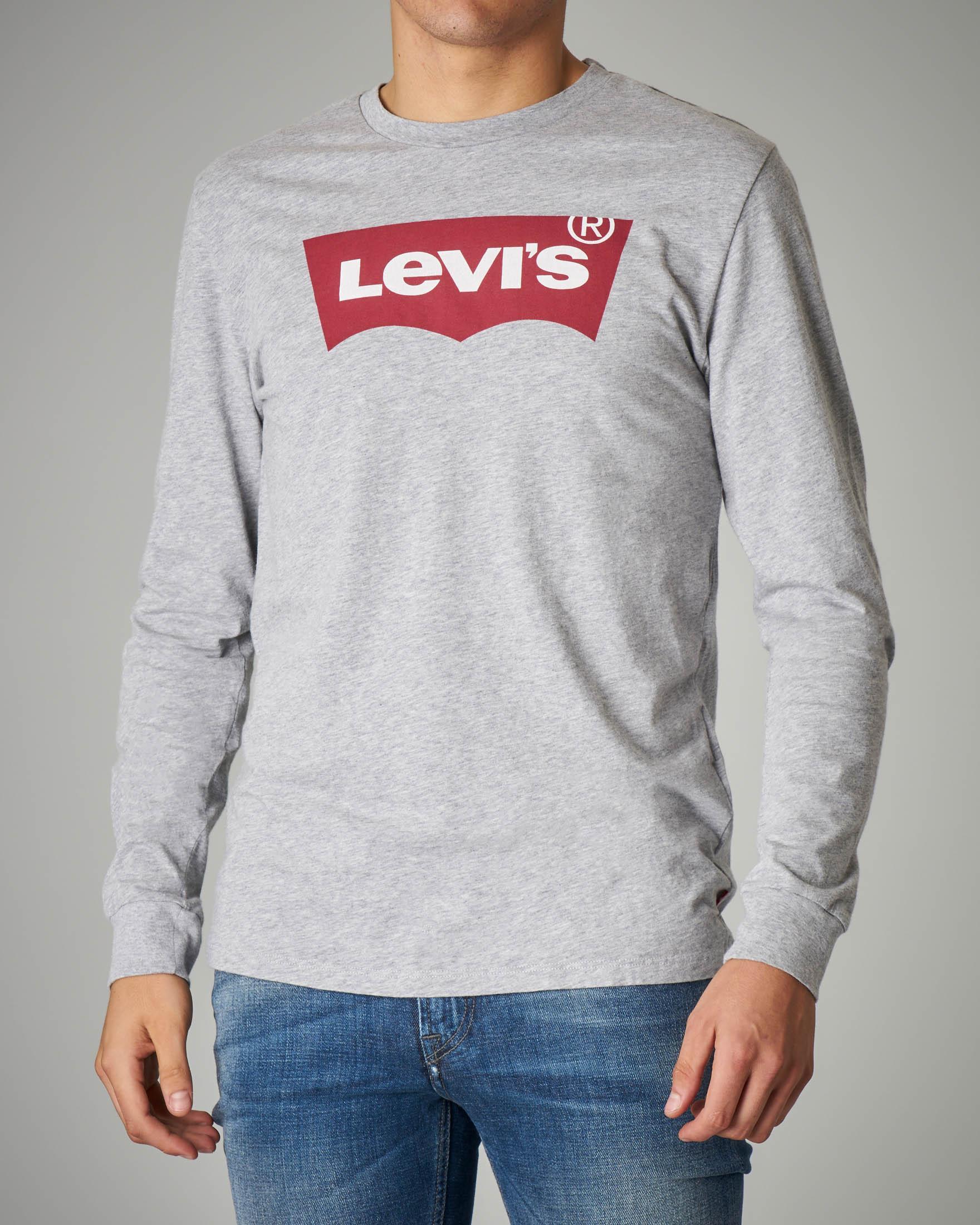 T-shirt manica lunga grigia