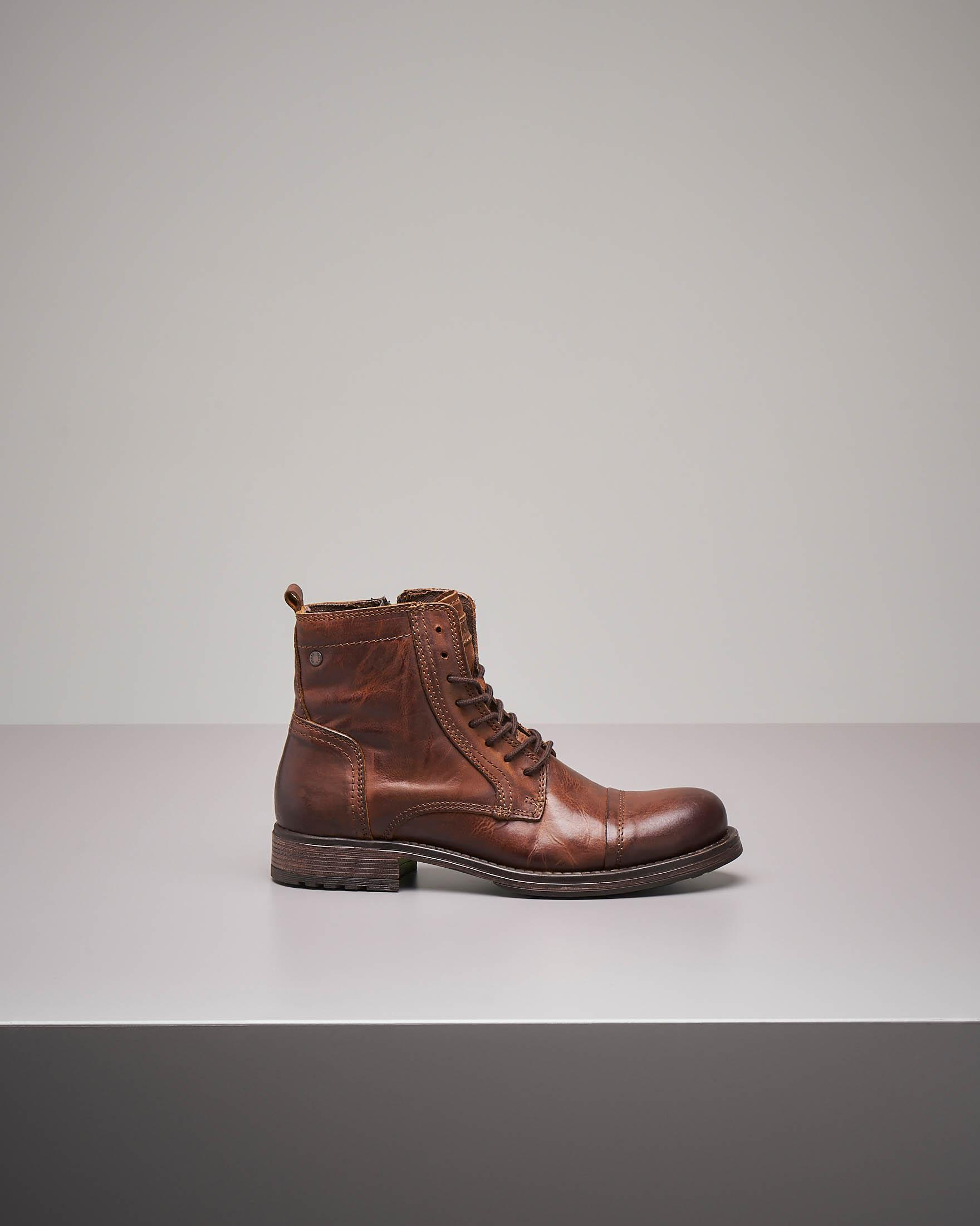 Boots cuoio in pelle