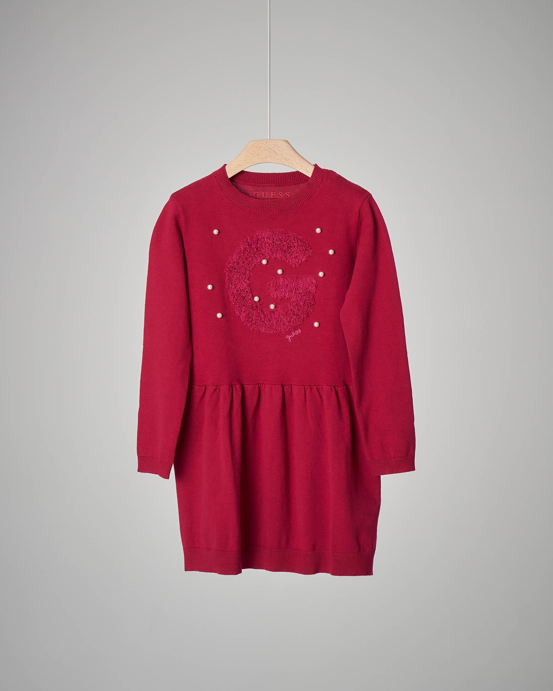 Abito rosso in maglia