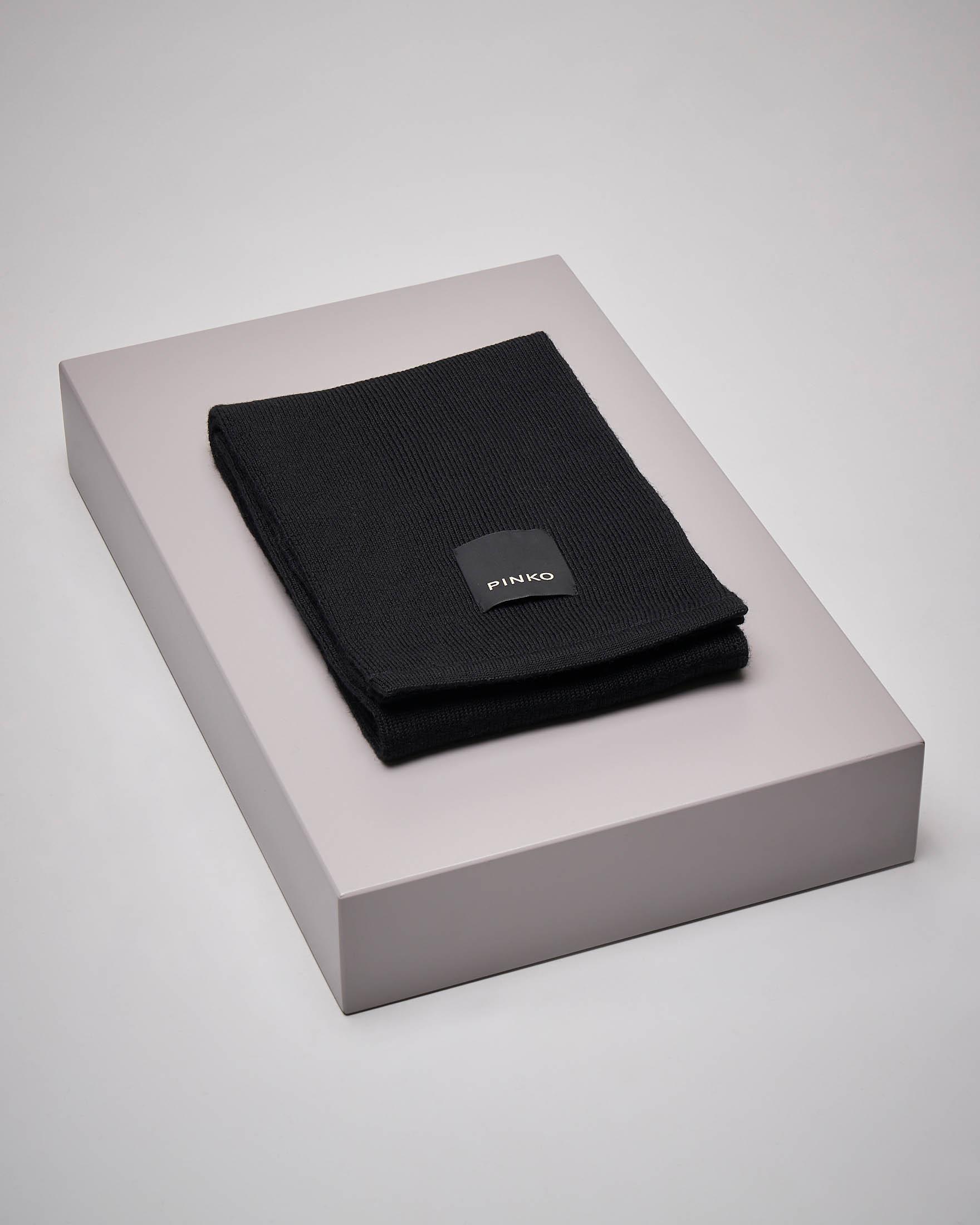 Sciarpa nera logo