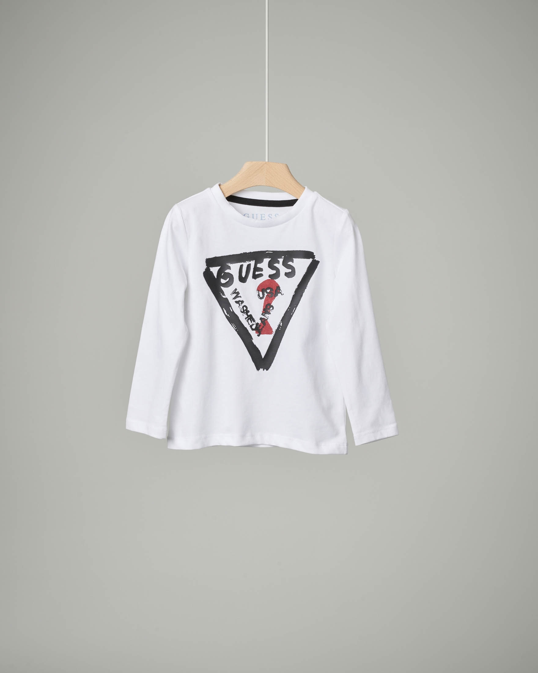 T-shirt bianca stampa