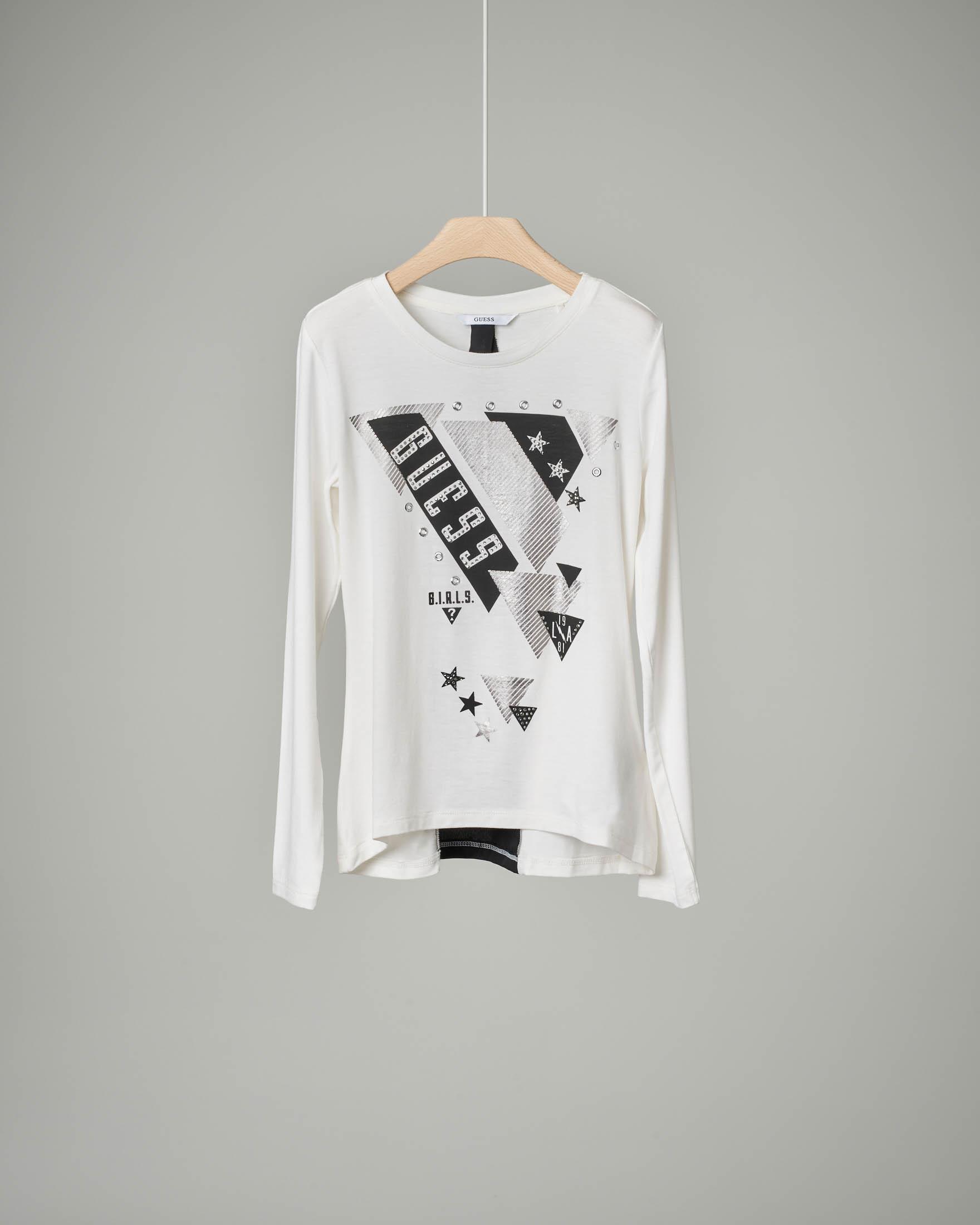 T-shirt bianca inserto voile