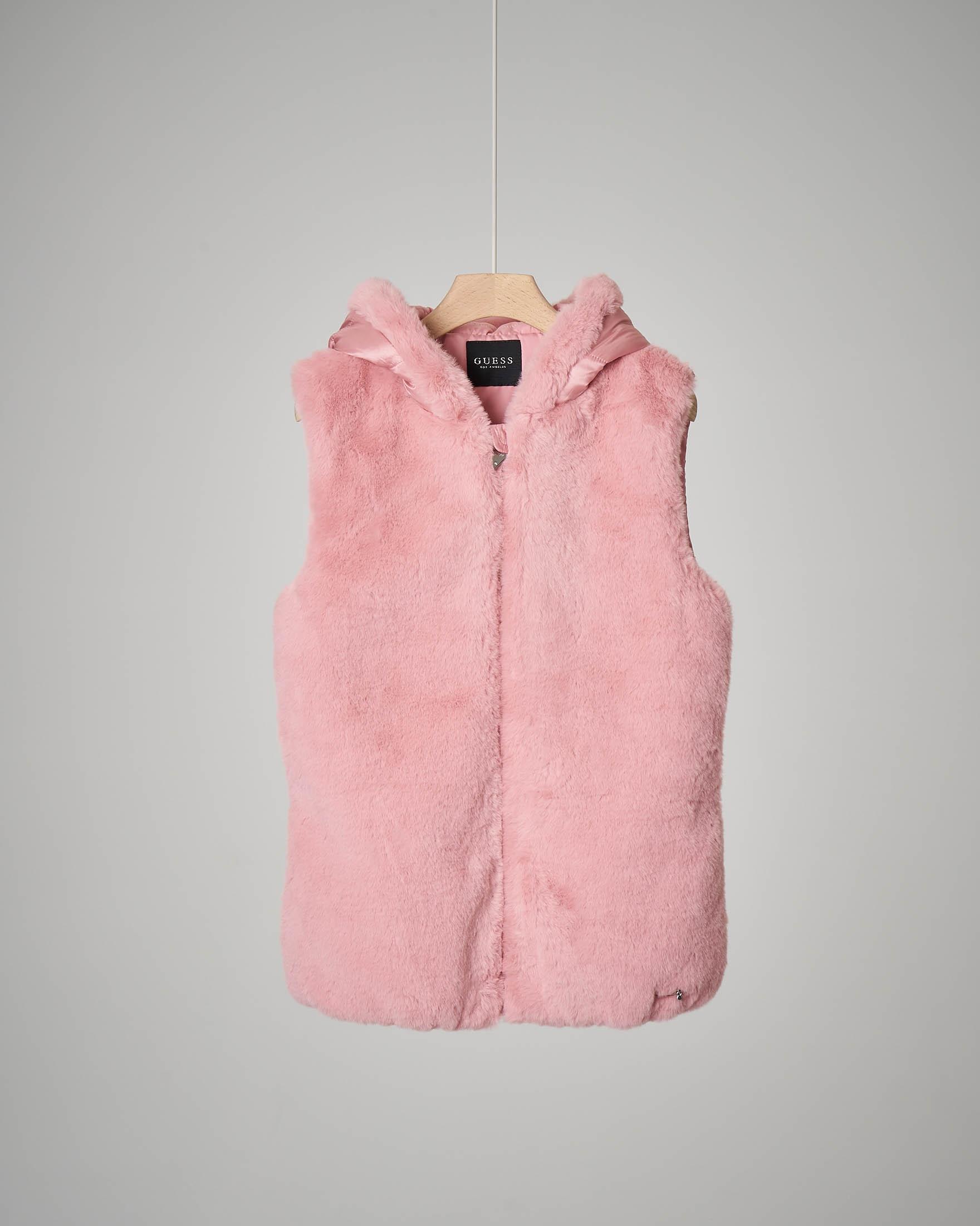 Giaccone rosa senza maniche
