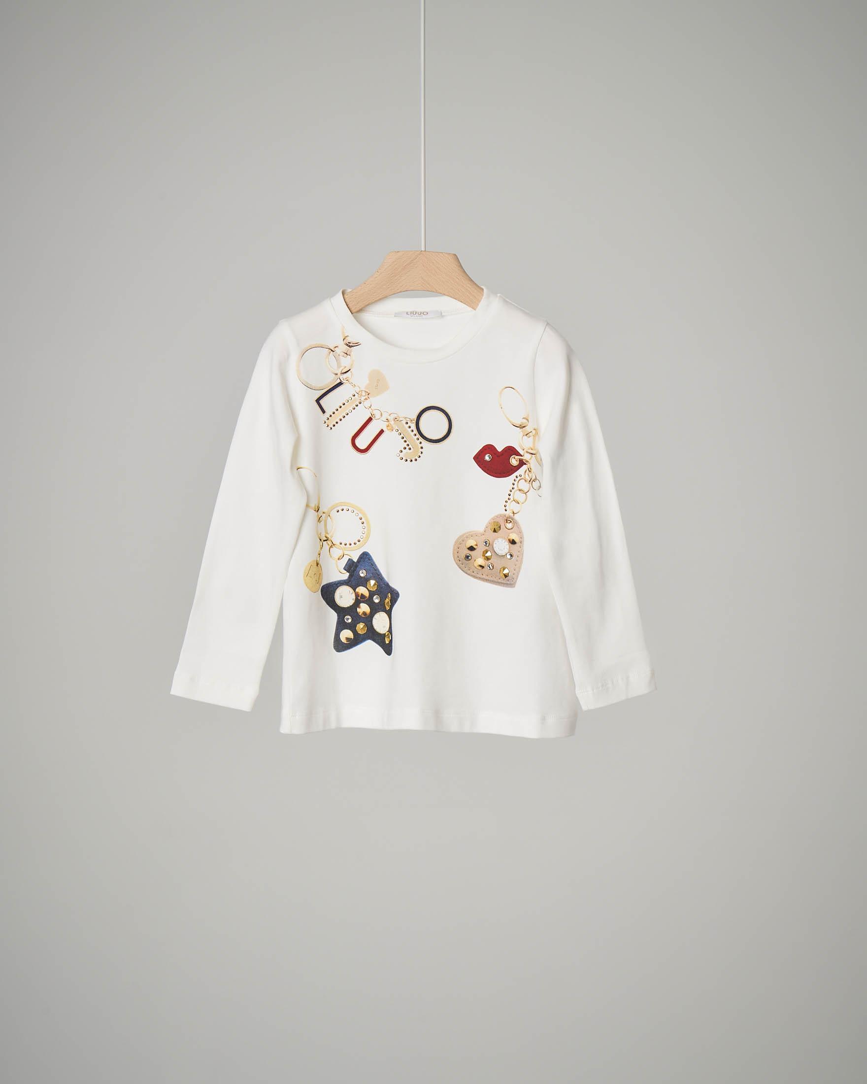 T-shirt bianca charmes