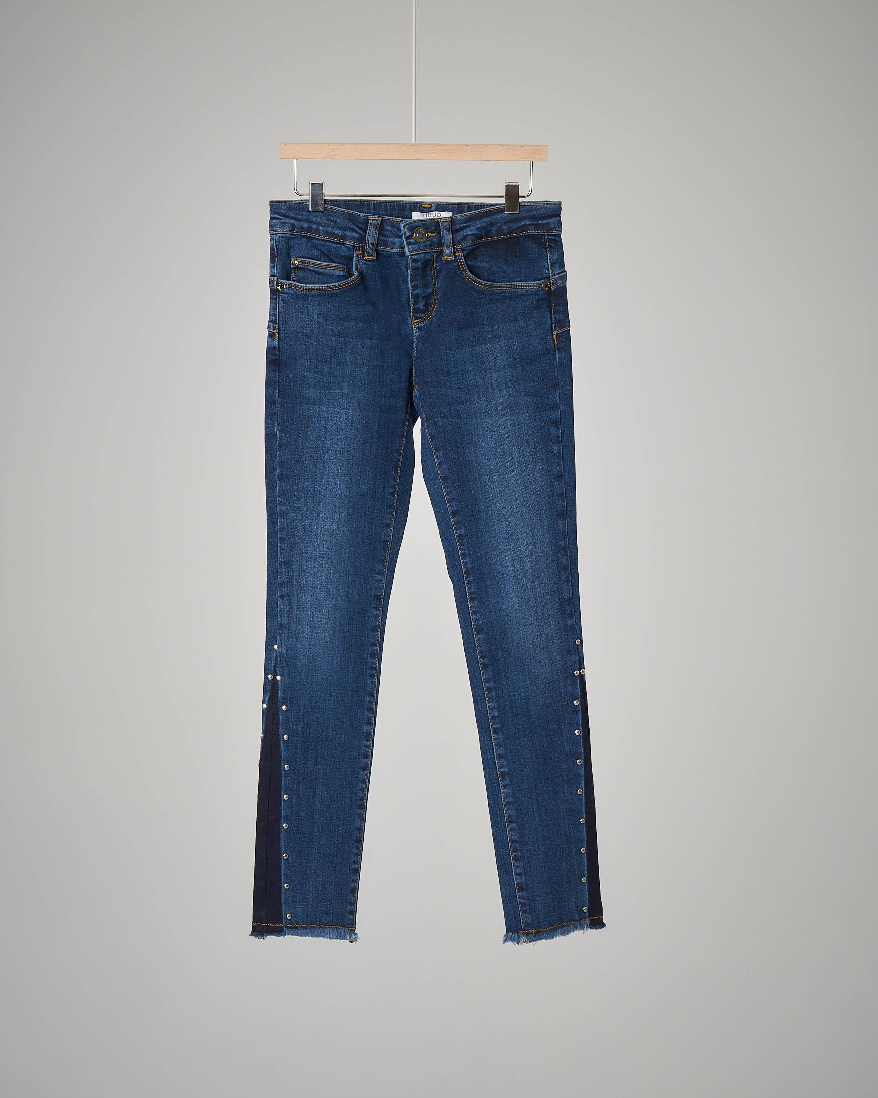 Pantalone jeans borchie