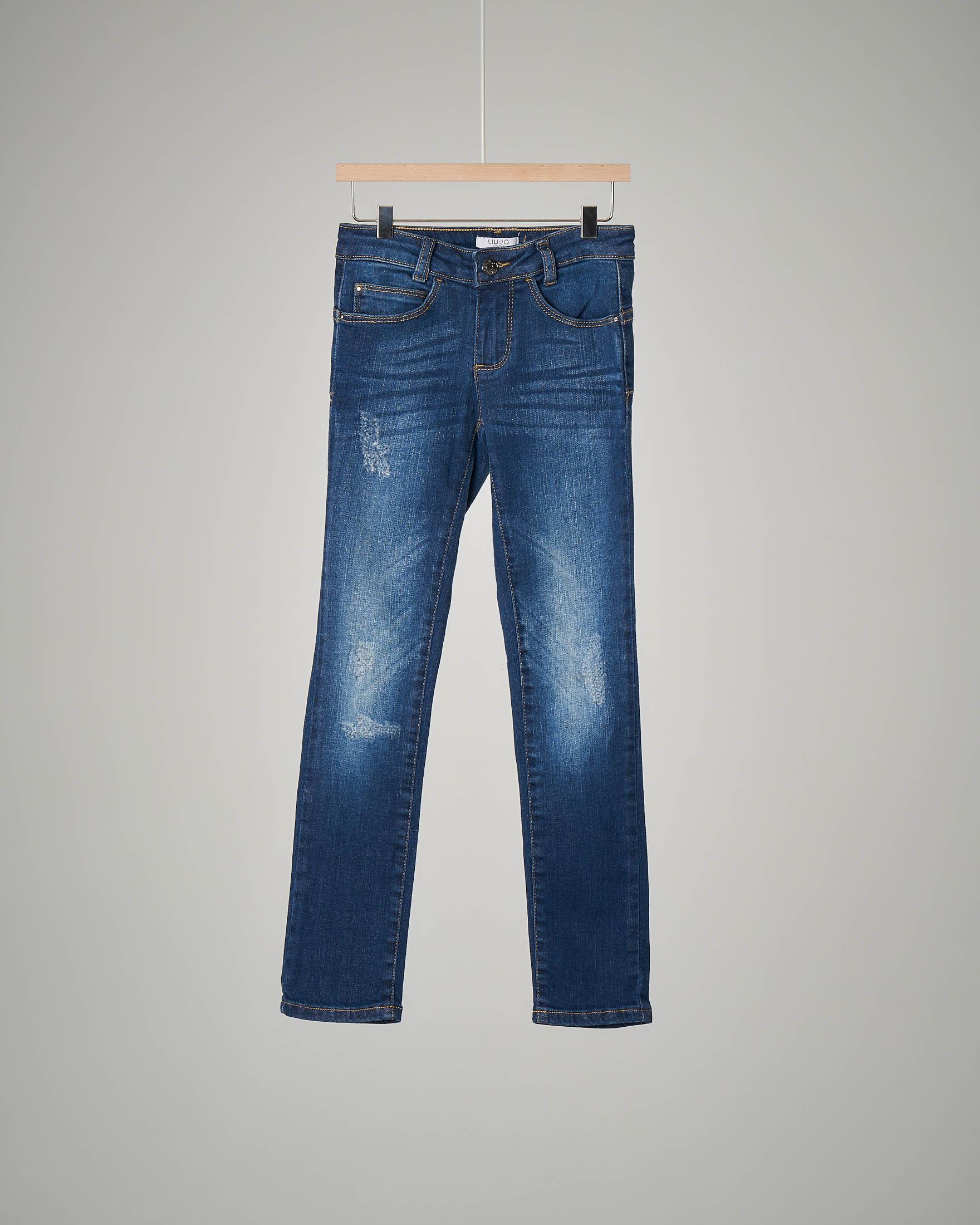 Pantalone jeans abrasioni