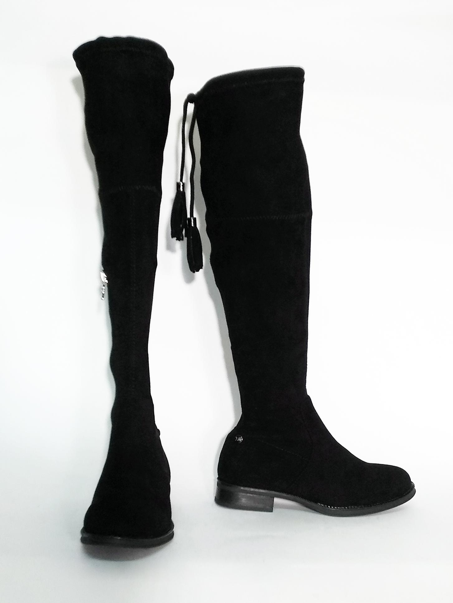 Stivale al ginocchio nero Xti