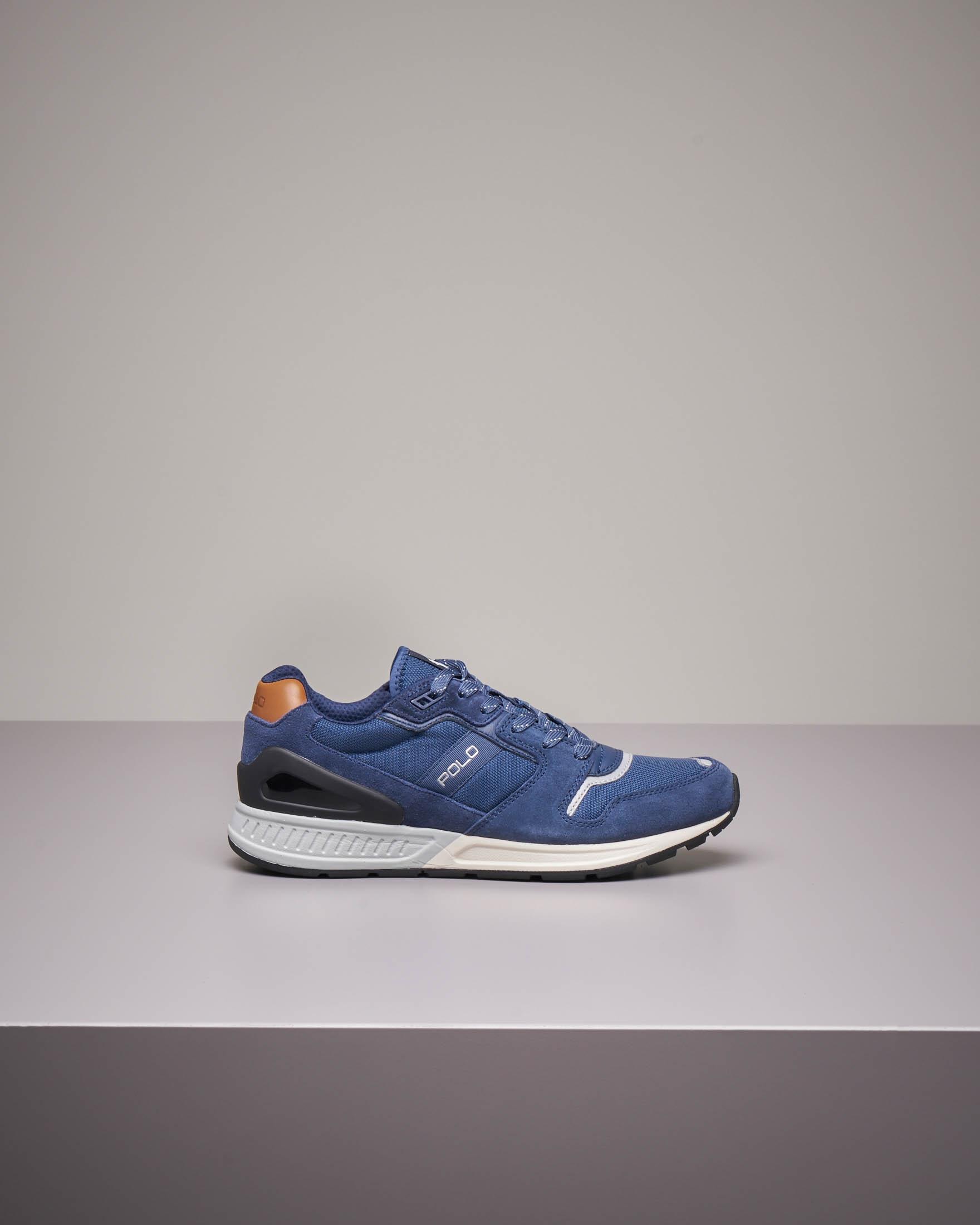 Sneakers blu con logo