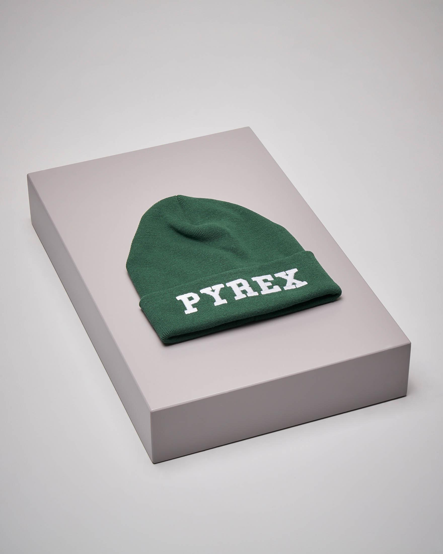 Berretto verde maxi-logo