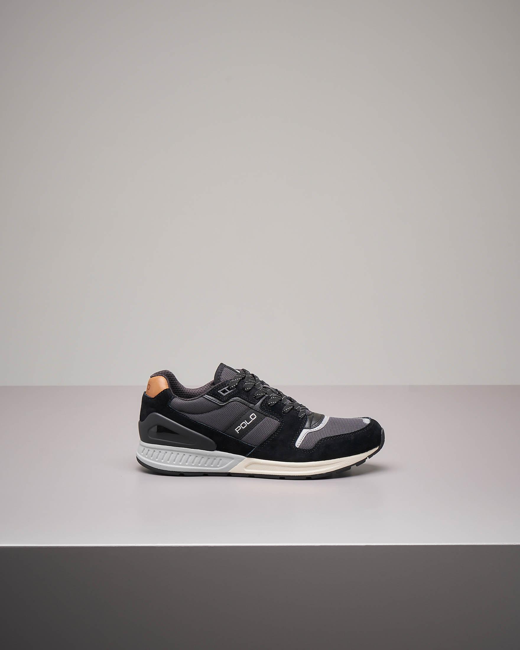 Sneakers nere e grigie con logo