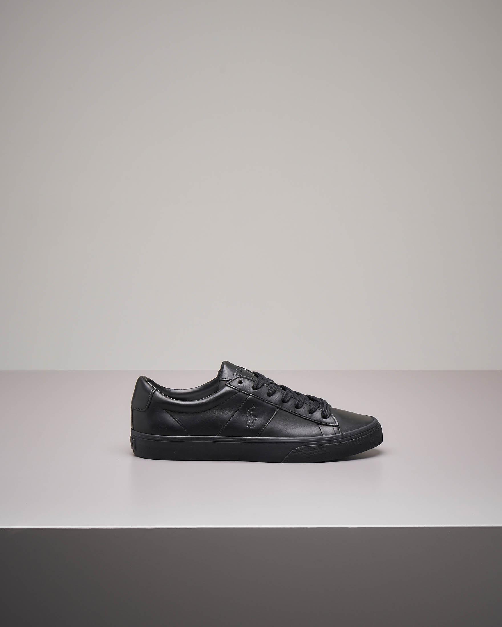 Sneakers nere in pelle