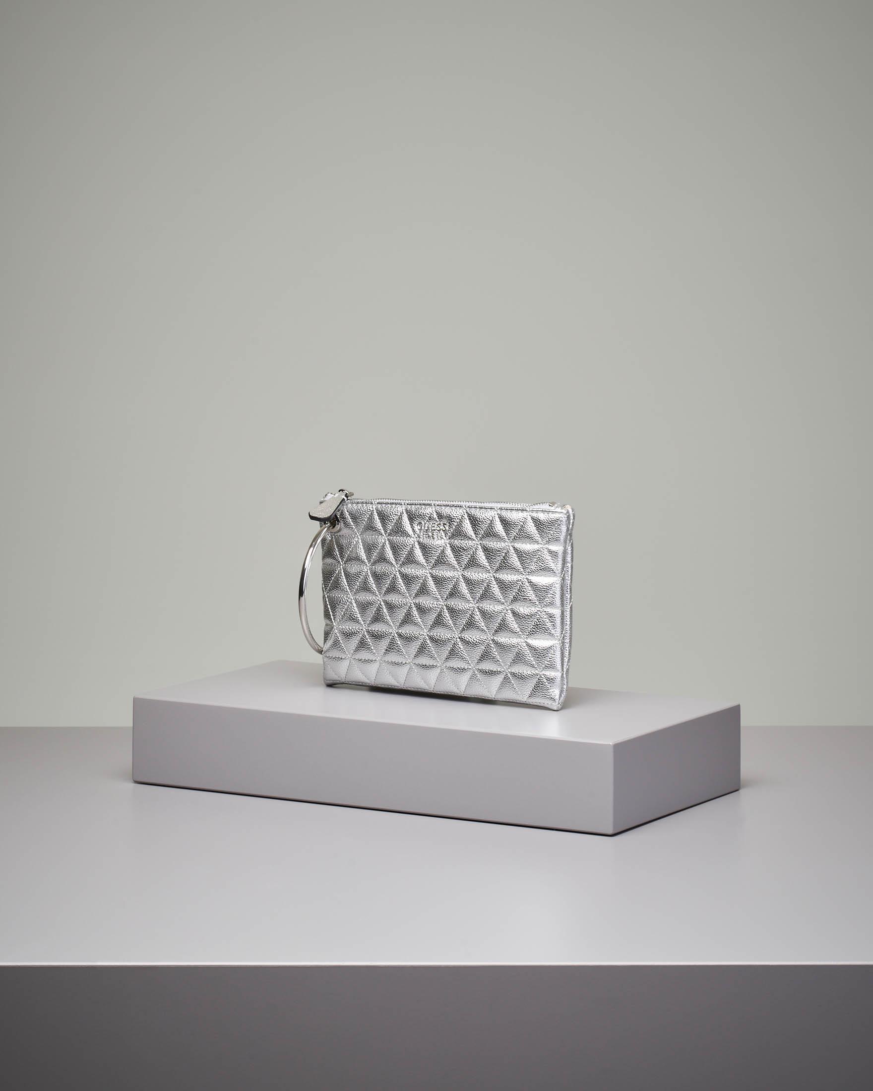 Pochette trapuntata argento