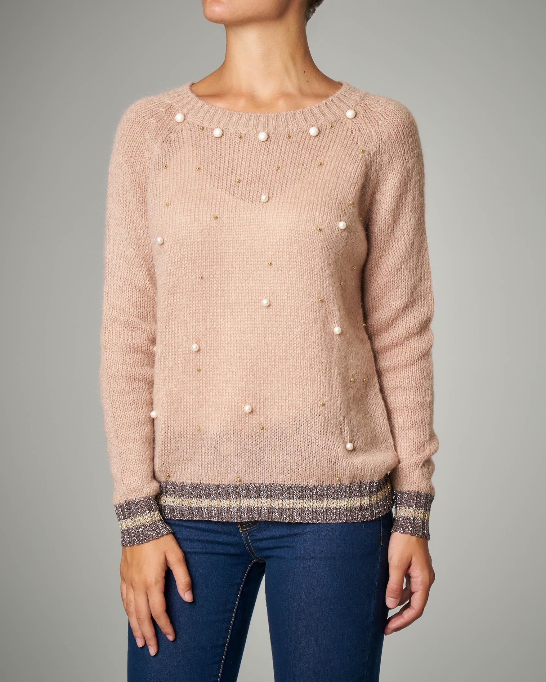 Maglia in lana rosa