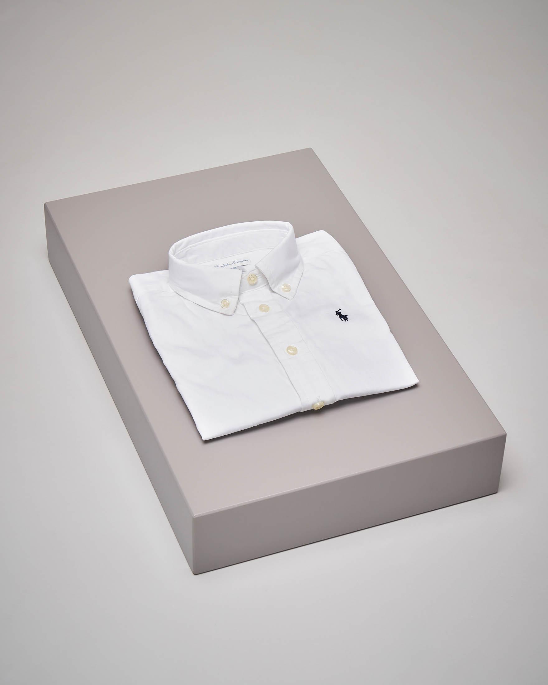 Camicia bianca in Oxford button-down