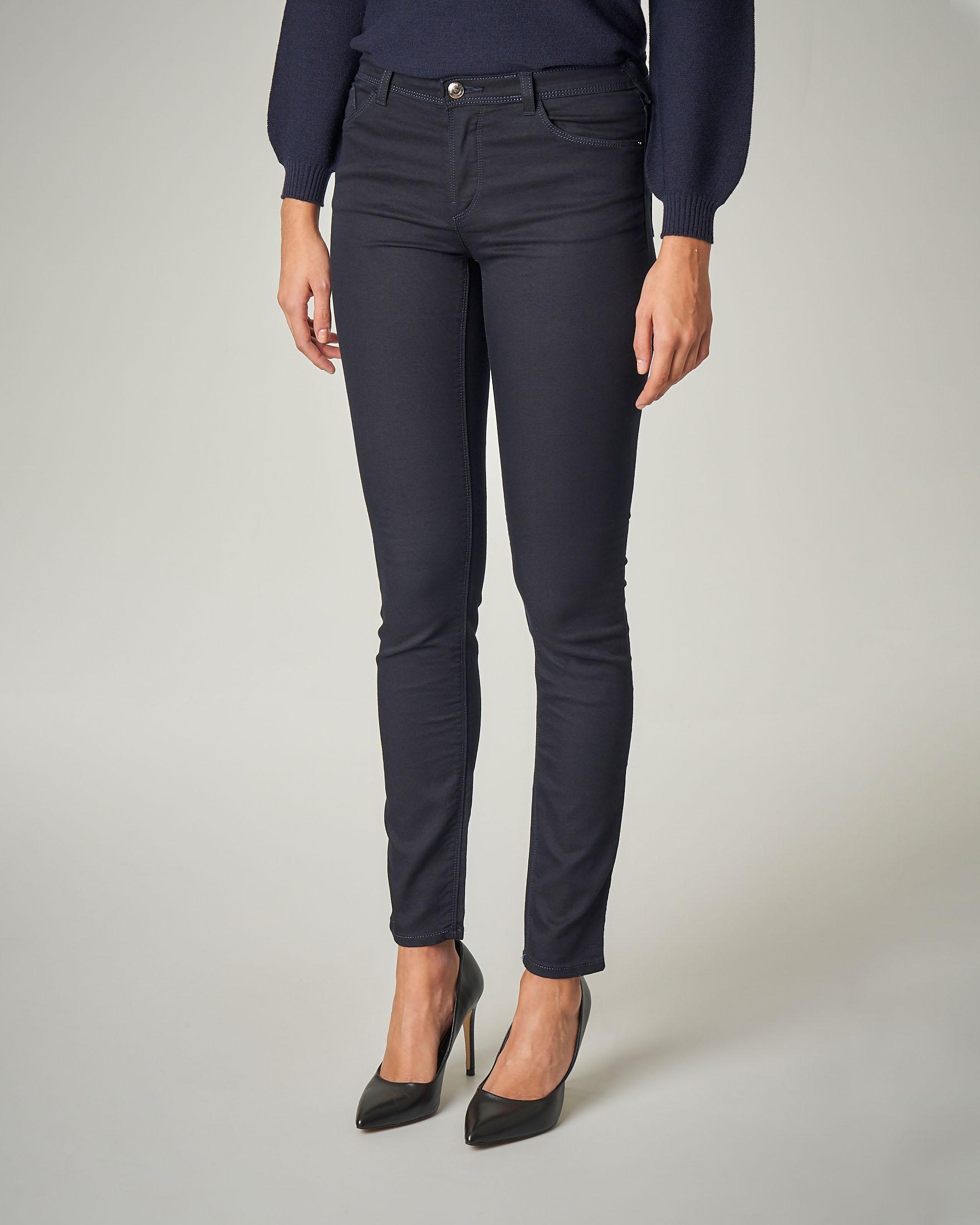 Jeans skinny elasticizzati blu notte