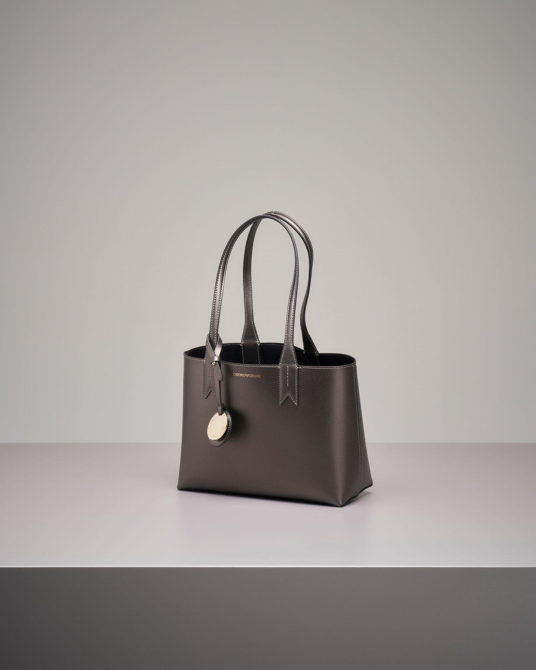 Shopper bag rigida antracite misura piccola