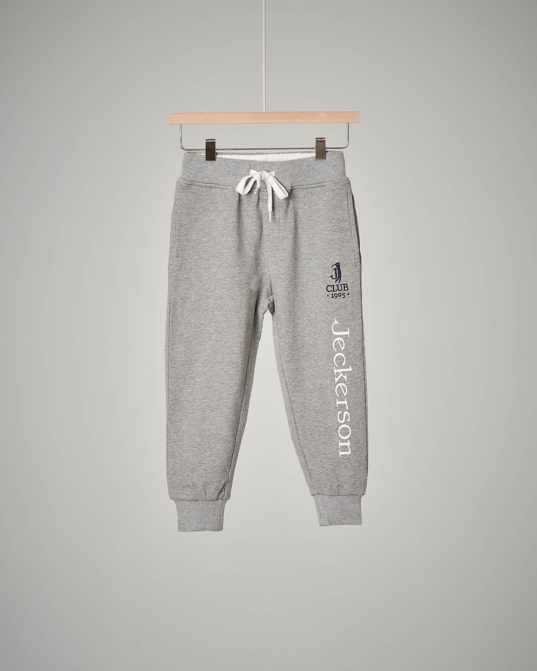 Pantalone grigio chiaro in felpa