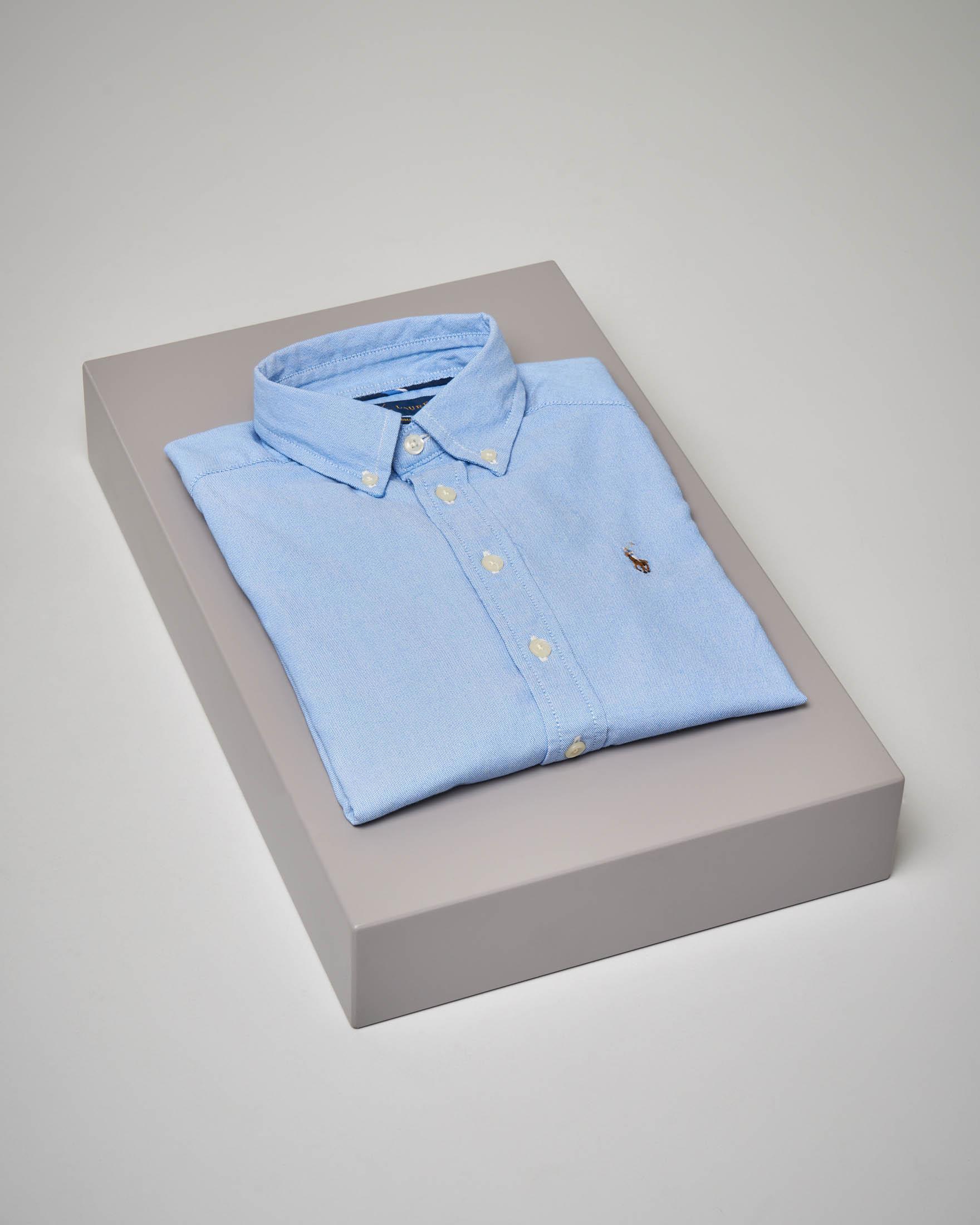 Camicia azzurra stretch button-down