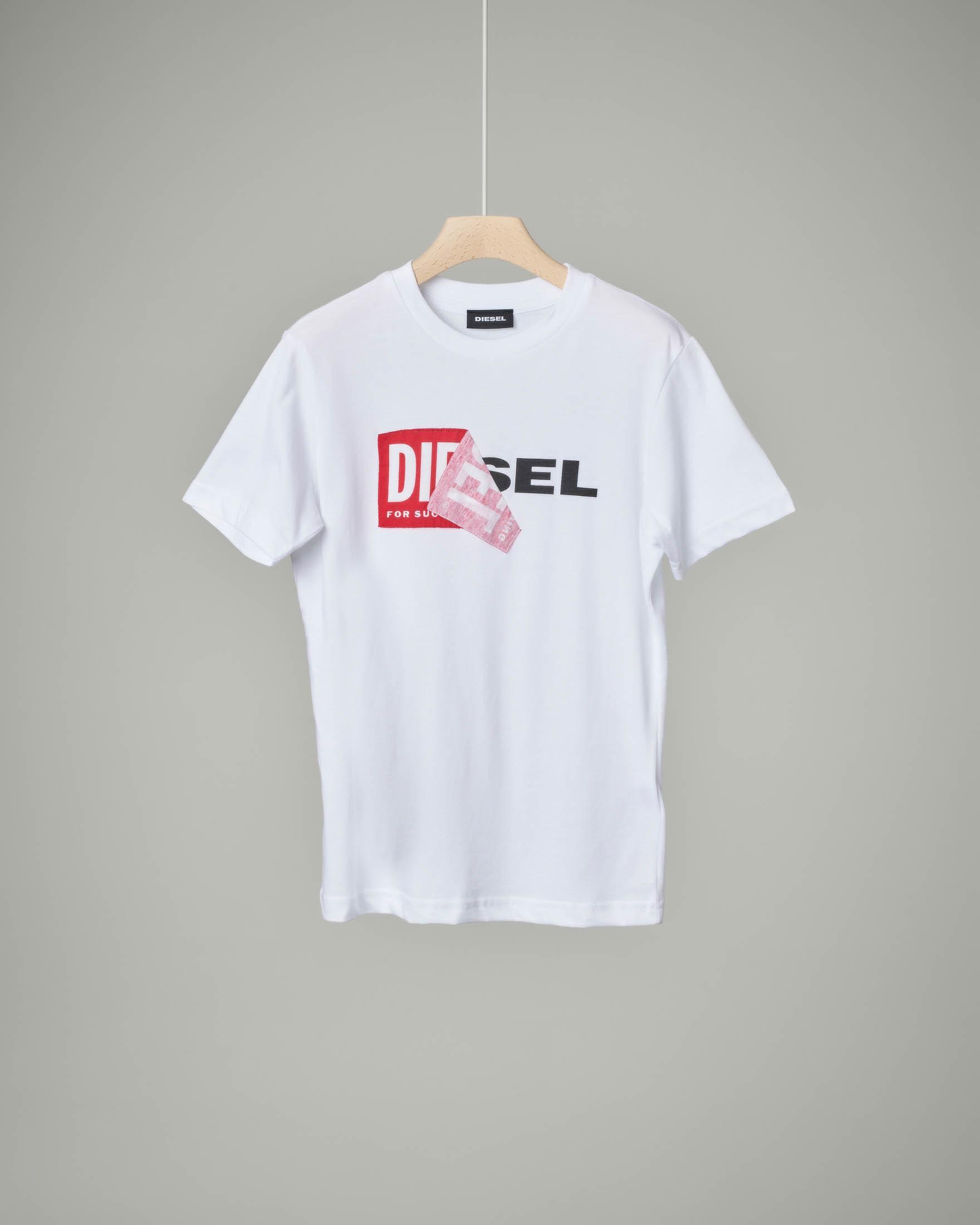 T-shirt bianca con logo