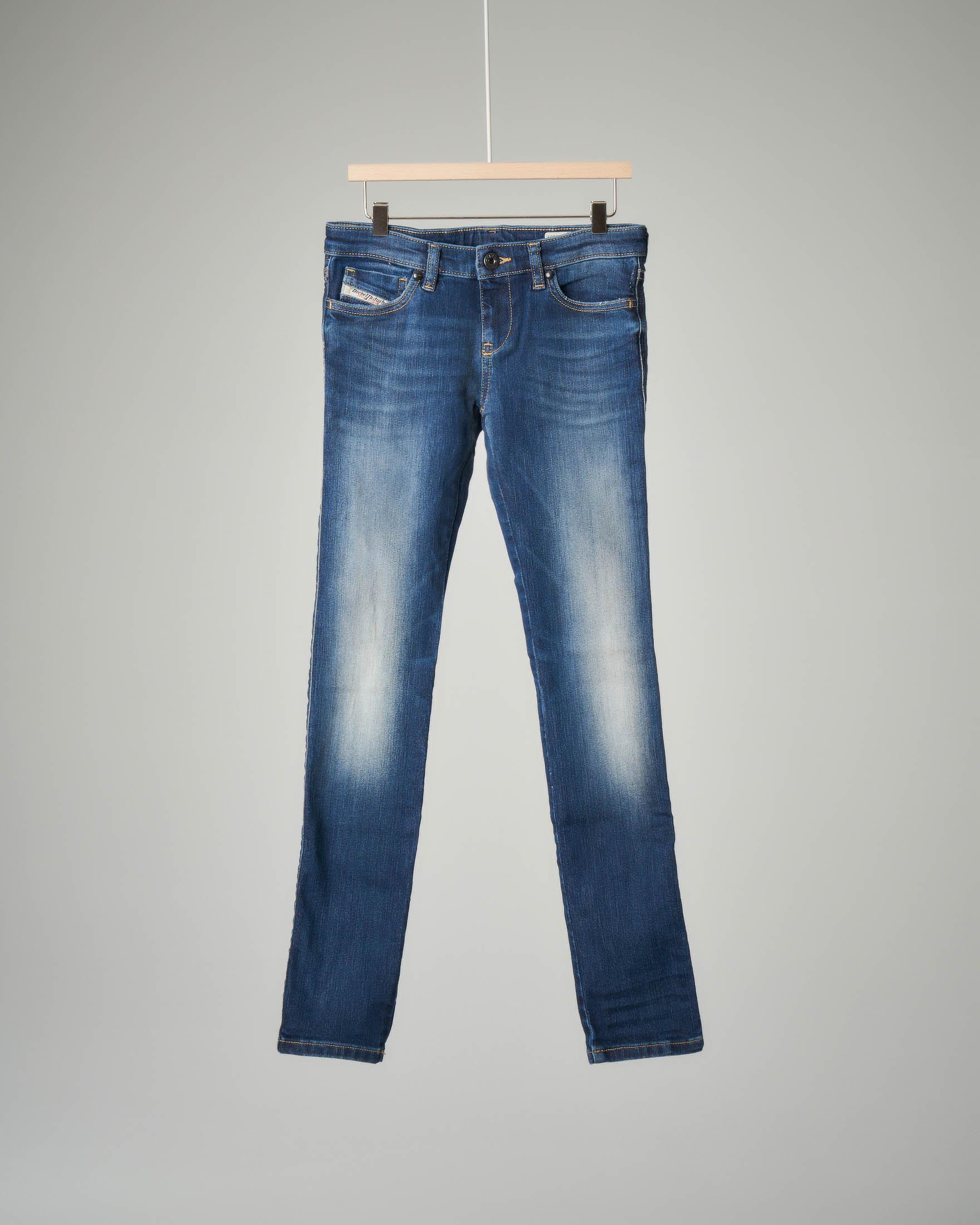 Jeans super skinny sbiancato