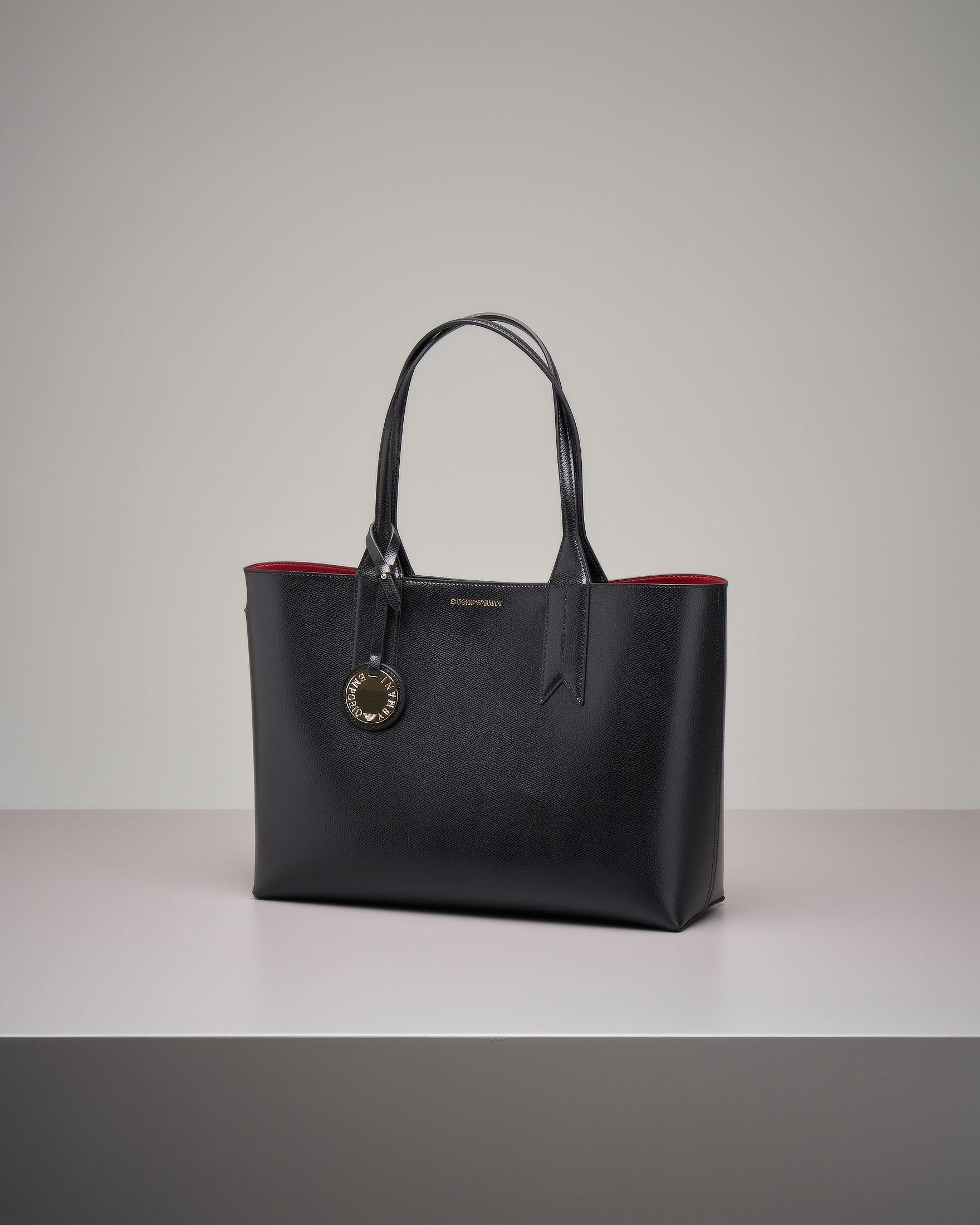 Shopper bag rigida nera misura grande