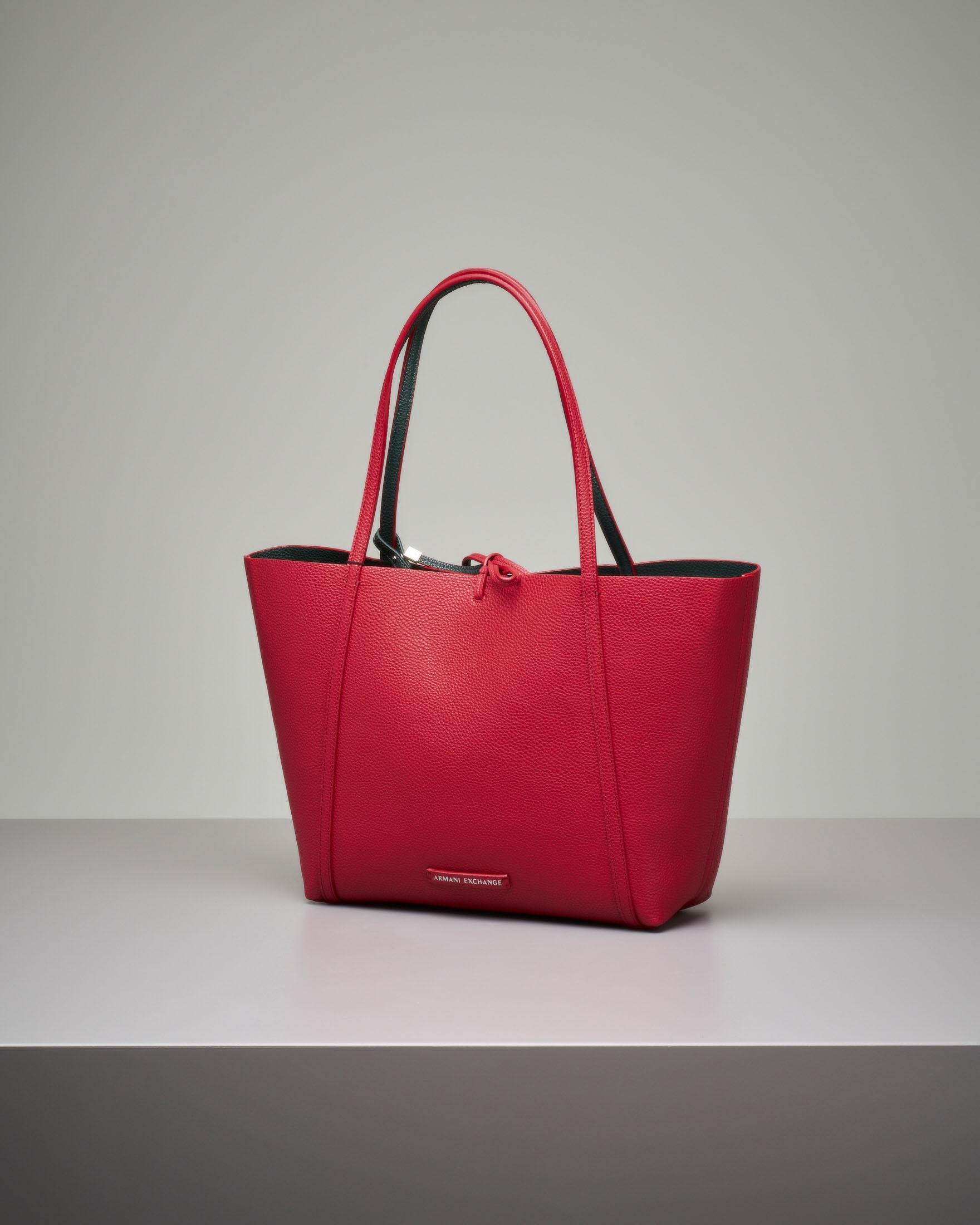 Shopping bag morbida rossa reversibile