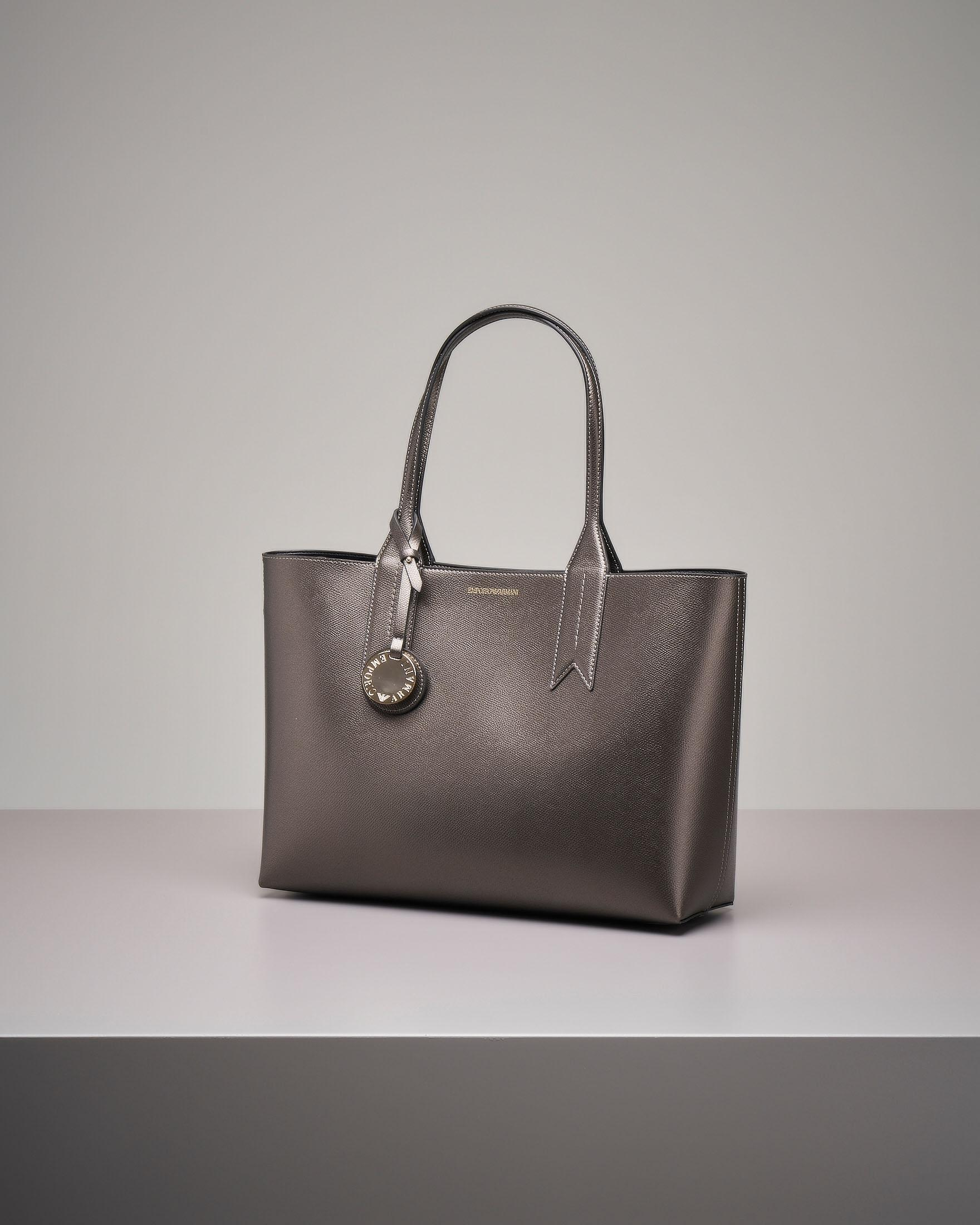 Shopper bag rigida antracite misura grande