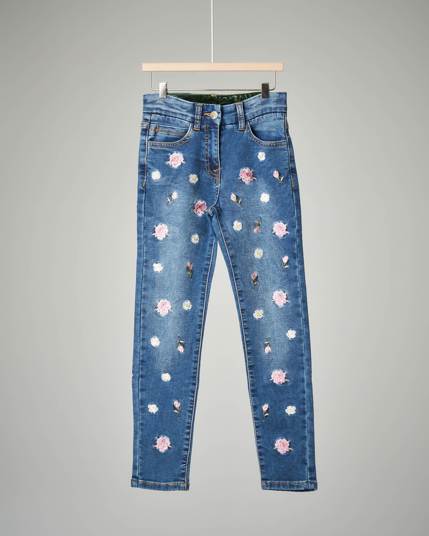 Jeans ricamato