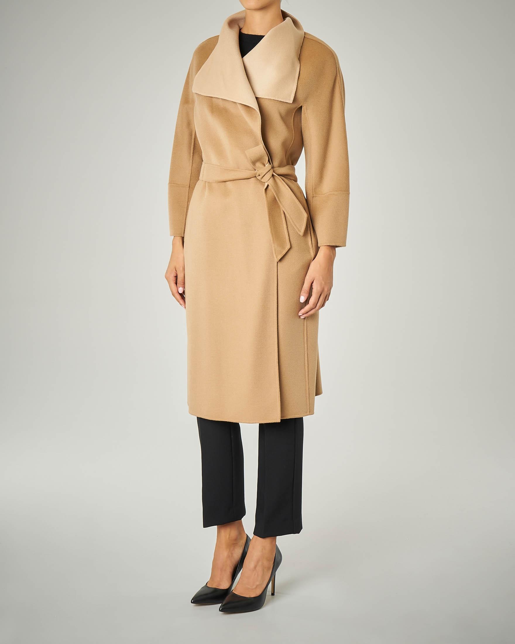 Cappotto in double di lana, cachemire e seta