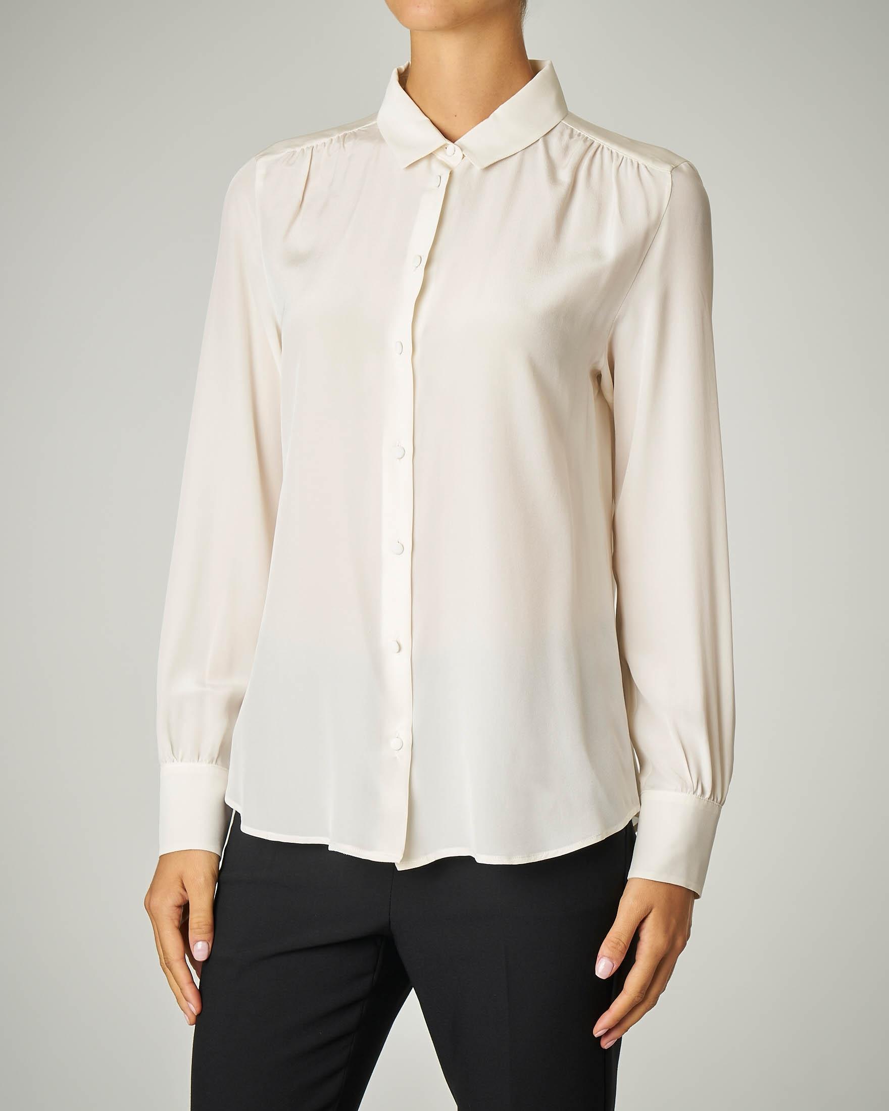 Camicia bianca in pura seta