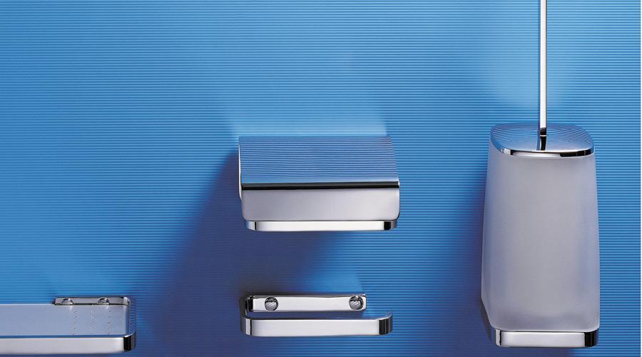 Porta rotolo coperto per il bagno serie Time Colombo design