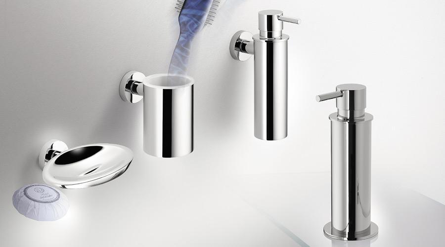 Dispenser dosa sapone liquido a parete per il bagno serie Plus Colombo design