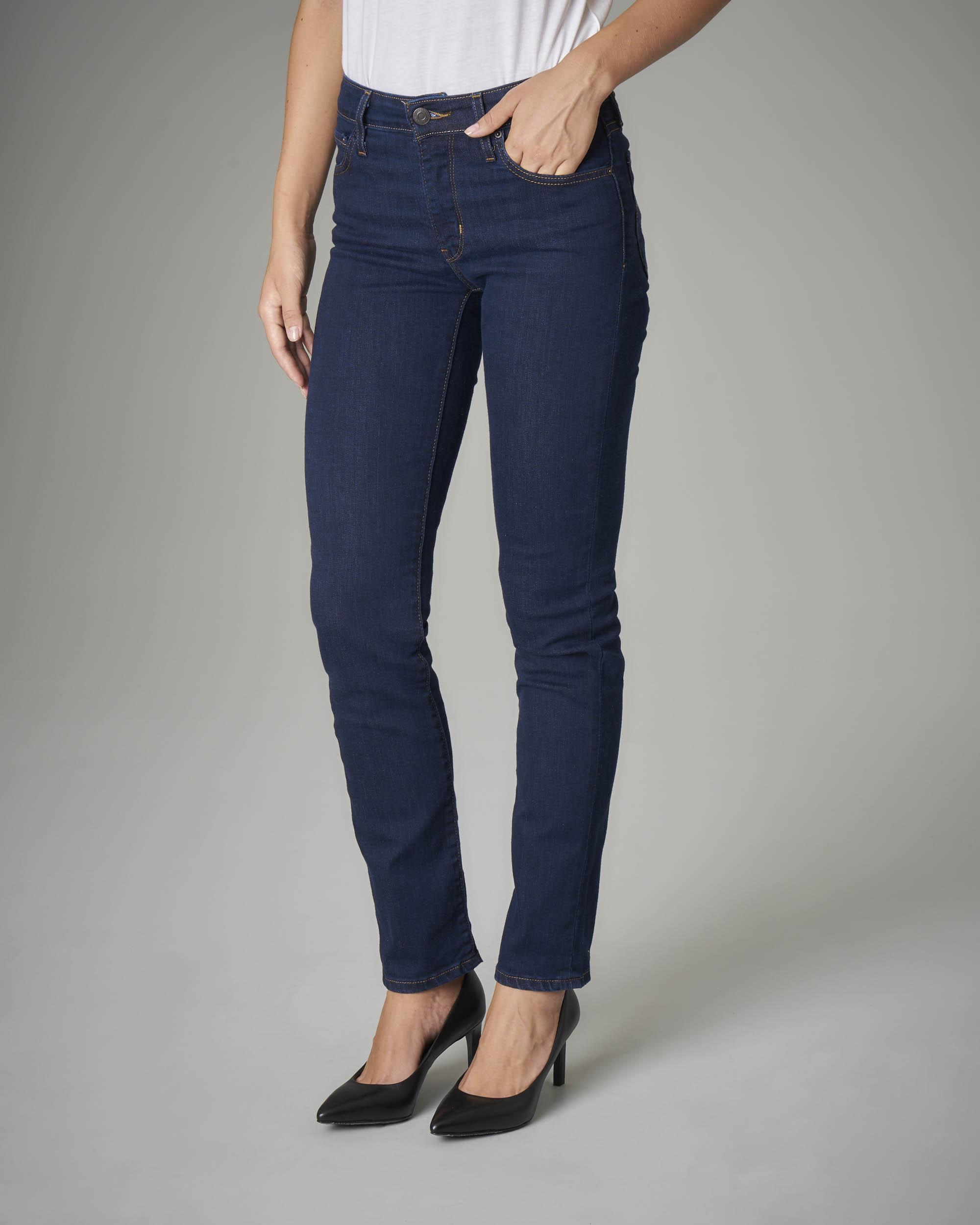 Jeans 712 slim vita media blu scuro