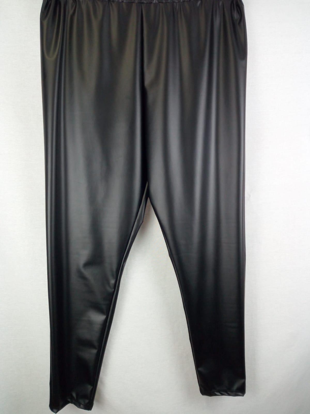 Pantalone elasticizzato tipo pelle grande
