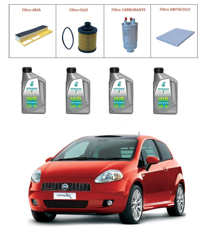 Kit tagliando per Fiat Grande Punto 1.3 Multijet TOP QUALITY imp. UFI