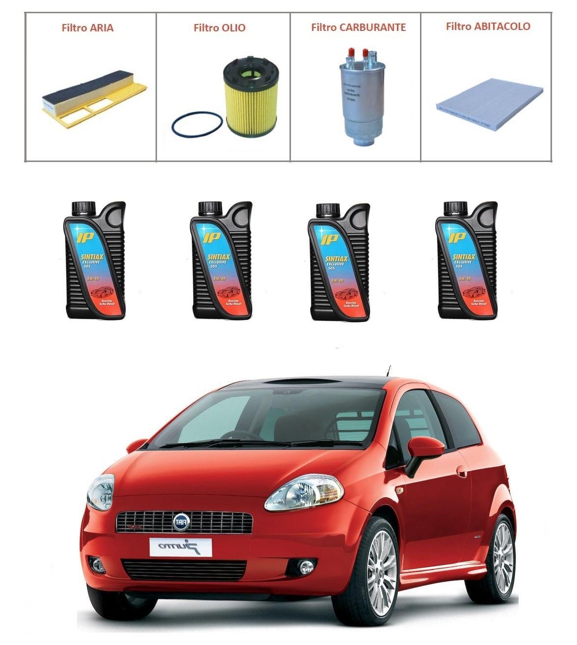 Kit tagliando per Fiat Grande Punto 1.3 Multijet PREMIUM QUALITY imp. Purflux