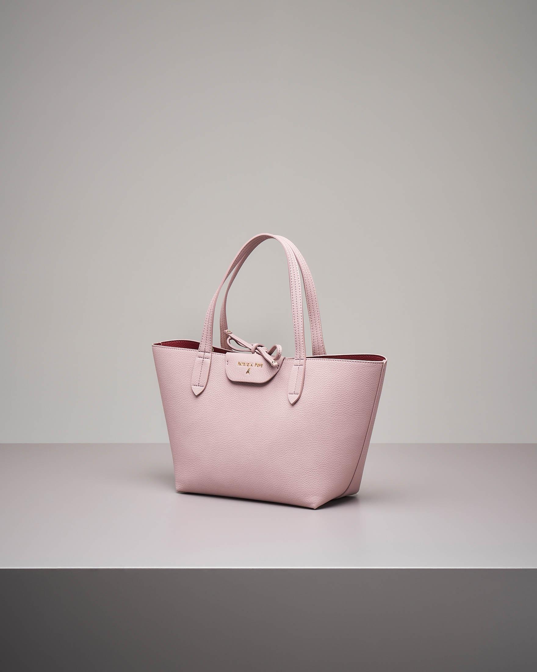 Shopping bag reversibile rosa misura piccola