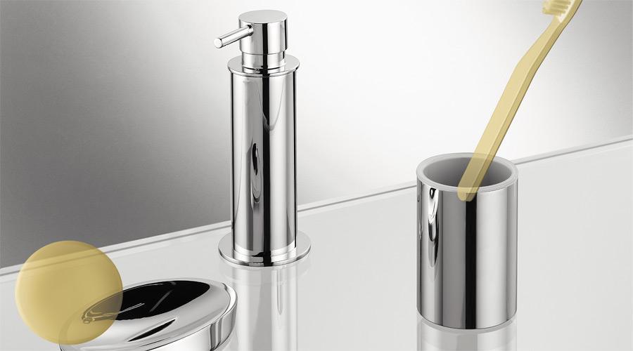 Porta bicchiere da appoggio per il bagno serie Plus Colombo design